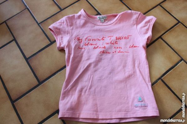 T-shirt eliane et lena 4 ans rose 8 Wervicq-Sud (59)