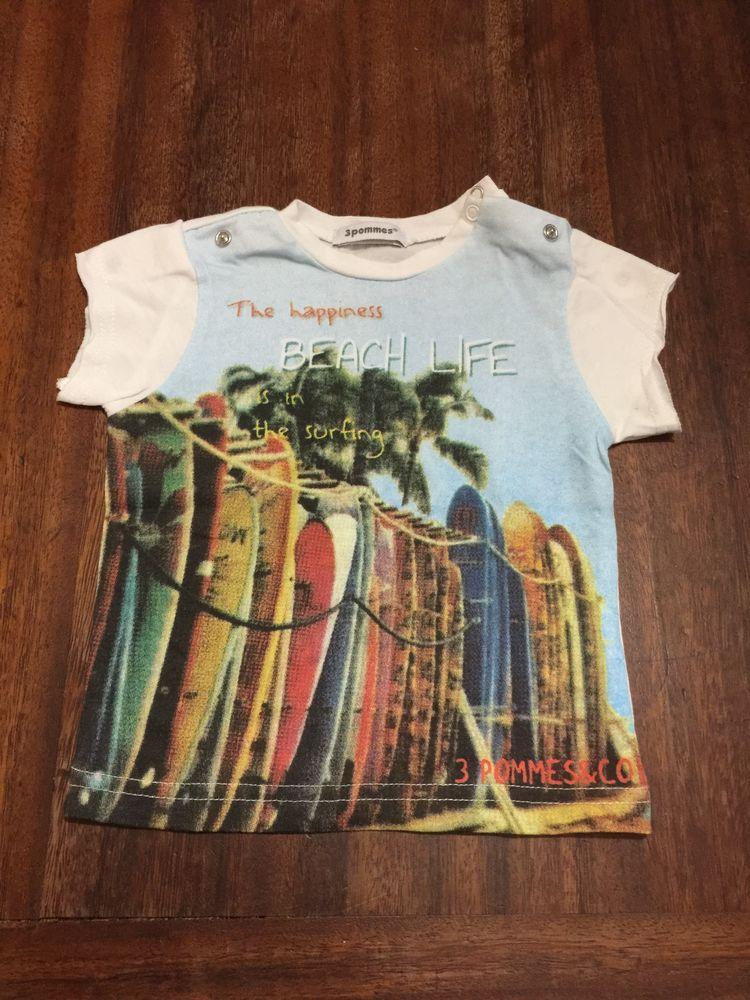 Tee shirt enfant garçon ´´ 3 Pommes ´´ 3 Saleilles (66)