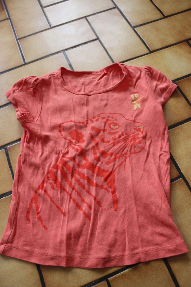 T-shirt esprit orange tigre 6/7ans 4 Wervicq-Sud (59)