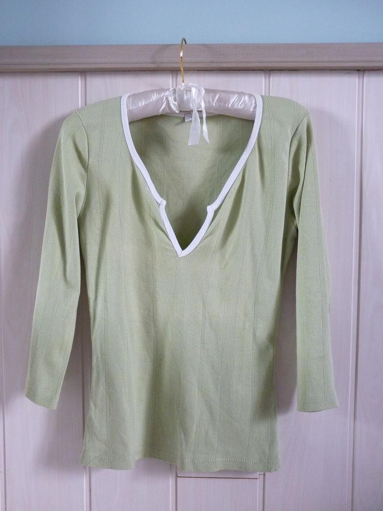 T-shirt femme Gémo vert Taille 40 TBE 1 Brienne-le-Château (10)