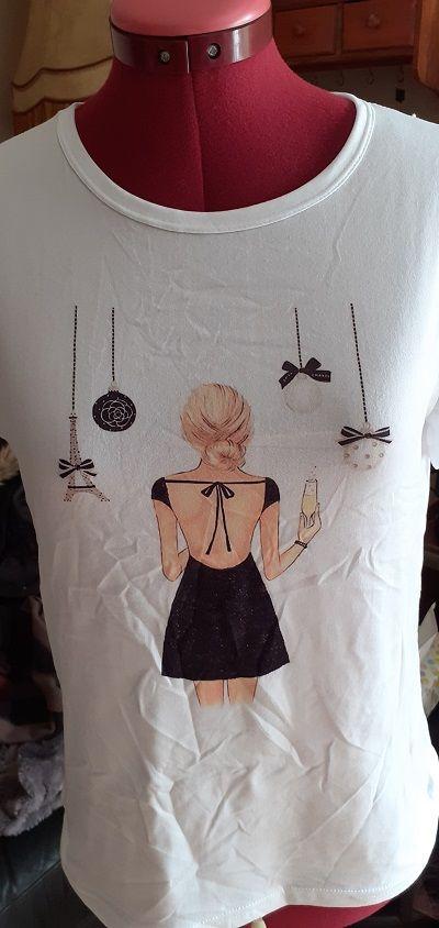 Tee-shirt femme impression élégante 15 Pleurs (51)