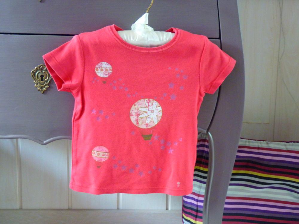 T-shirt Fille Okaidi 2 ans rose tbe 2 Brienne-le-Château (10)