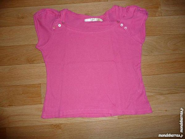 Tee-shirt fuschia boutons épaules taille 14 ans 5 Montigny-le-Bretonneux (78)