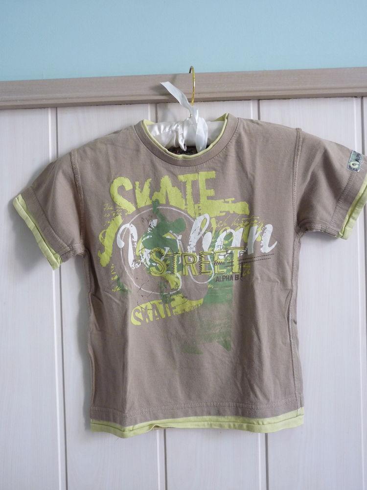 t-shirt garçon 4 ans alphabet kaki tbe 2 Brienne-le-Château (10)