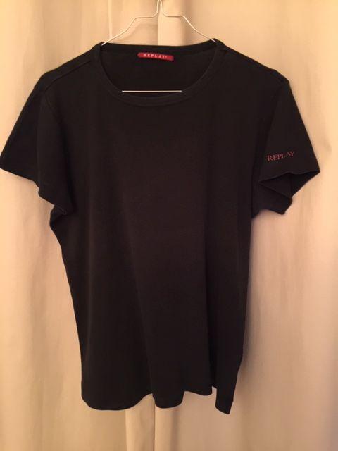 Tee-shirt Homme manches courtes marque REPLAY noir T. M 5 Saulx-les-Chartreux (91)