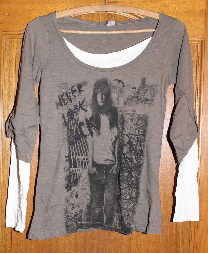 T-shirt longues manches kaki 4 Cramont (80)