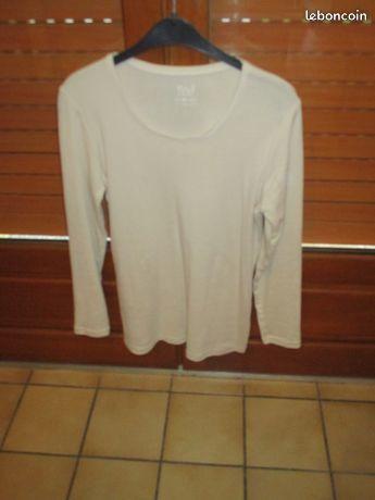 T shirt longues manches blanc casse neuf 0 Mérignies (59)