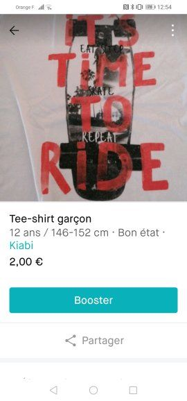 tee-shirt manche courte garçon  2 Morlaàs (64)