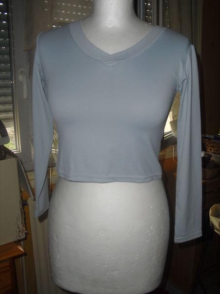 tee shirt , manches longues, gris clair, taille unique 3 Lyon 5 (69)