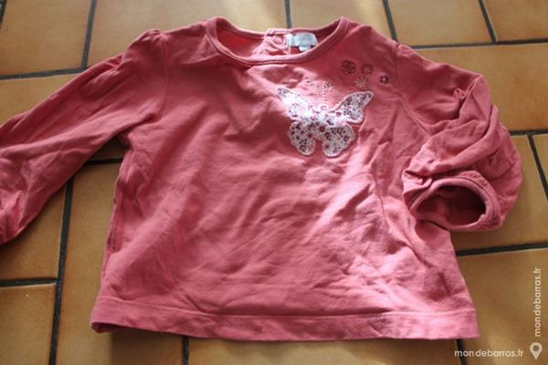 T-shirt manches longues tex baby rose 18 mois 6 Wervicq-Sud (59)