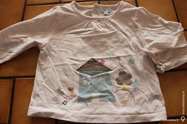 T-shirt manches longues tex baby blanc 18 mois Vêtements enfants