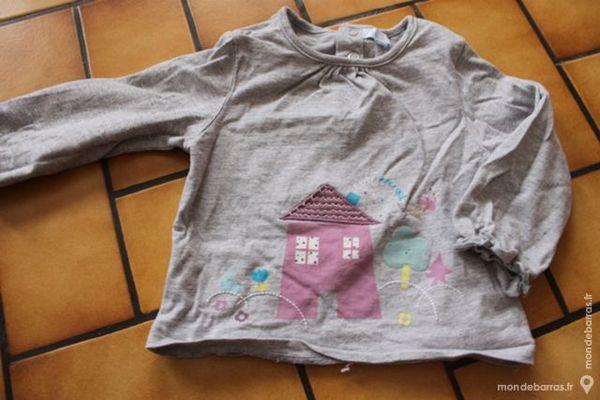 T-shirt manches longues tex baby gris18 mois Vêtements enfants