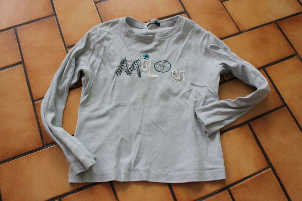 T-shirt manches longues bleu ciel milou 6 ans 20 Wervicq-Sud (59)