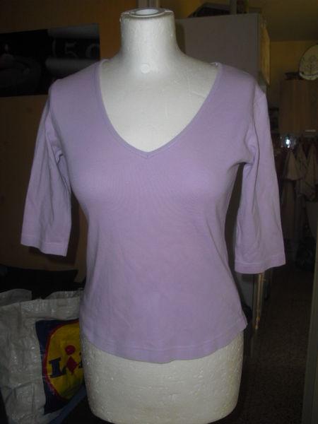 tee shirt manches trois quart violet pale taille 36 3 Lyon 5 (69)