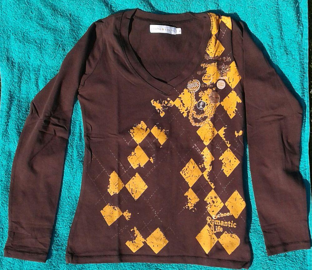 t-shirt marron  5 Cramont (80)