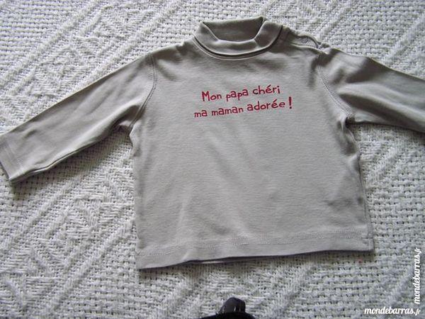 T-SHIRT col montant, bébé 6 mois, GRAIN DE BLE 2 Brouckerque (59)