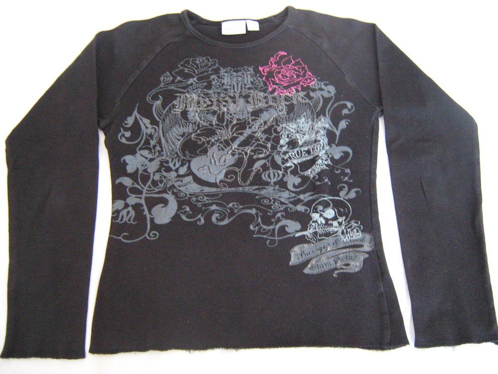 Tee-shirt motif gris & rose 4 Cannes (06)