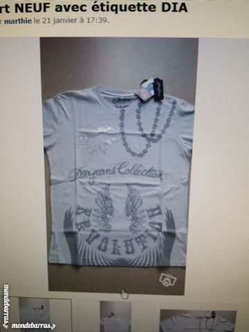 Tee shirt DIA NEUF avec étiquette. 10 Boulogne-Billancourt (92)