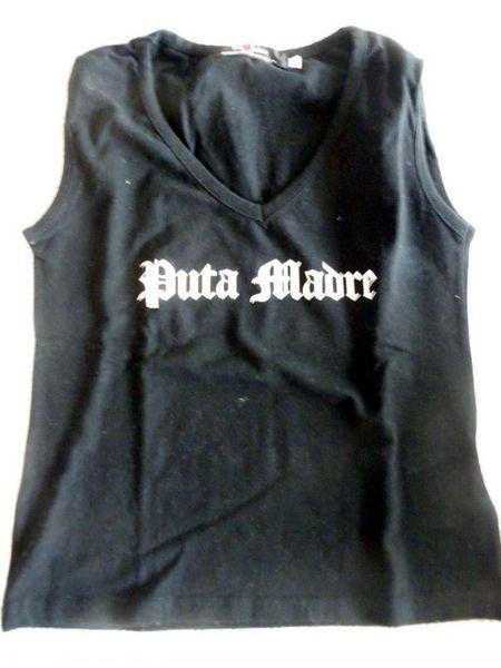 """t shirt noir taille M marque """"putamadre""""  Vêtements"""