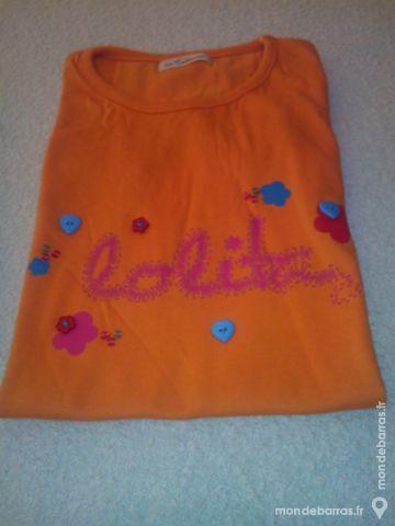Tee- shirt - orange - fille 4 Pont-Péan (35)
