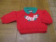 Tee shirt rouge avec motif fleurs et col vert 3 mois 0 Mérignies (59)