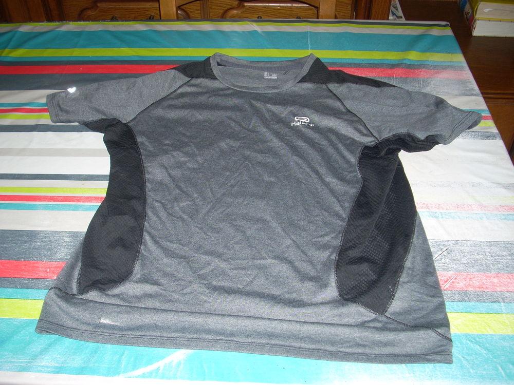 tee-shirt running KALENJI L gris-noir   3 Herblay (95)