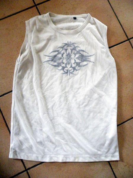 t shirt sans manche blanc Vêtements