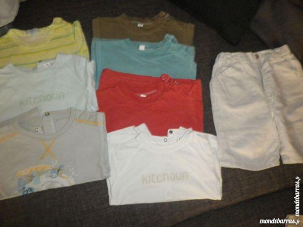 7 tee shirt + 1 short 9mois 12 Tourcoing (59)