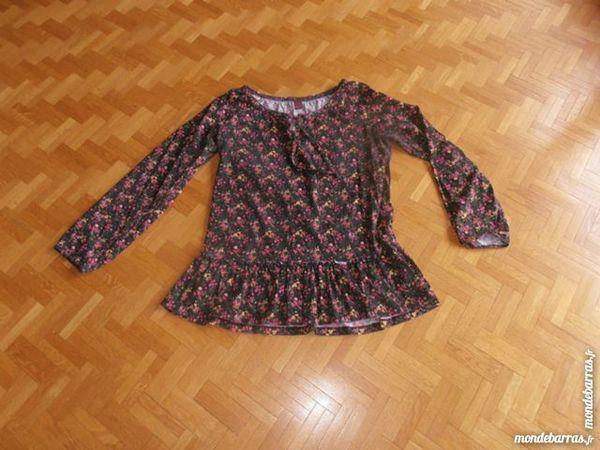 Tee-shirt tunique imprimée noire (50) 8 Tours (37)