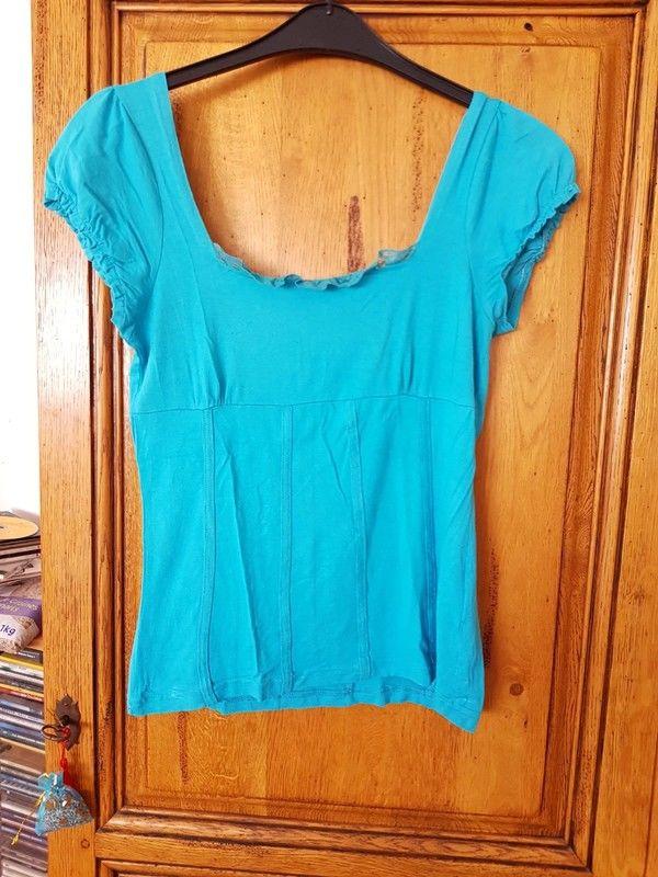 T shirt turquoise marque no escuse taille 42/44 bon etat que 4 Viriat (01)