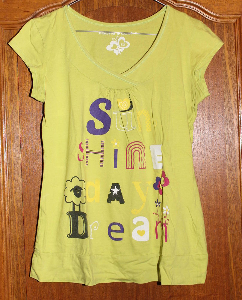 T-shirt vert anis  3 Cramont (80)