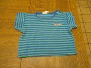 Tee shirt vert à lignes bleus 3 mois 0 Mérignies (59)
