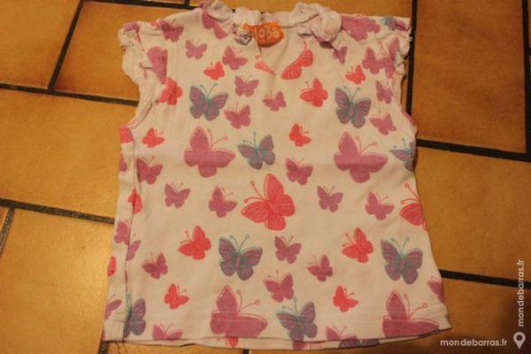 Lot 2 t-shirts biloba 6 mois 5 Wervicq-Sud (59)