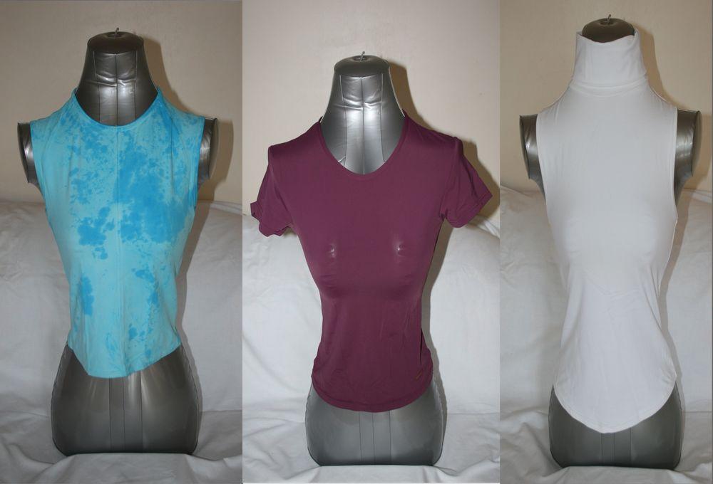 Tee-shirts 1 bordeaux ESPRIT 1 turquoise DDP 1 blanc cache  8 Artas (38)