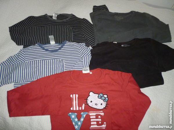 Lot 5 T-shirts fille manche longue - 12 ans 5 Lens (62)