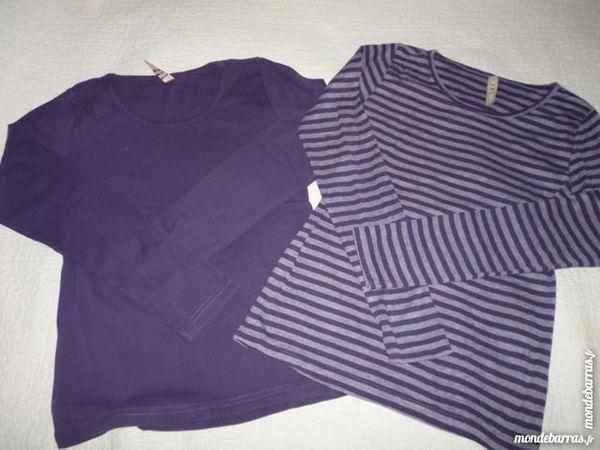 Lot 2 T-shirts Fille manches longues 14 ans 2 Lens (62)