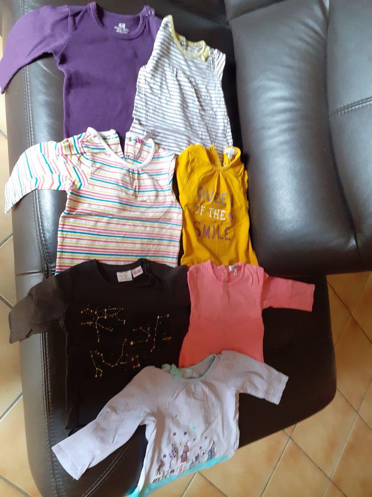 Lot de 7 t-shirts manches longues fille 12 mois 7 Grisolles (82)