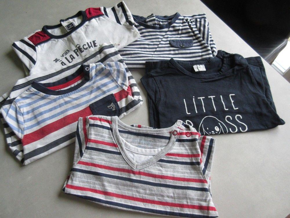 Lot tee-shirts manches longues 18 mois 4 Jury (57)