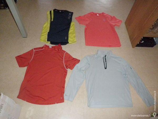 3 tee-shirts sport homme (running, foot…) 18 Mont-Saint-Aignan (76)