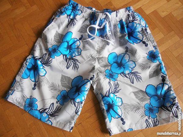 Short de bain à fleurs bleues (V5) 5 Tours (37)