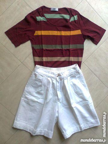 SHORT BLANC + t.shirt - 36 - zoe 2 Martigues (13)