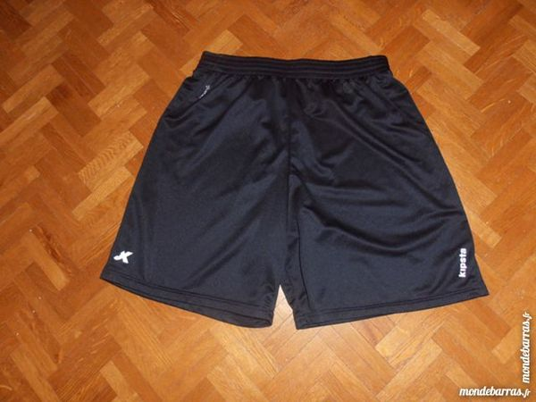SHORT FOOTBALL ADULTE BLANC ET MARINE(68) Sports
