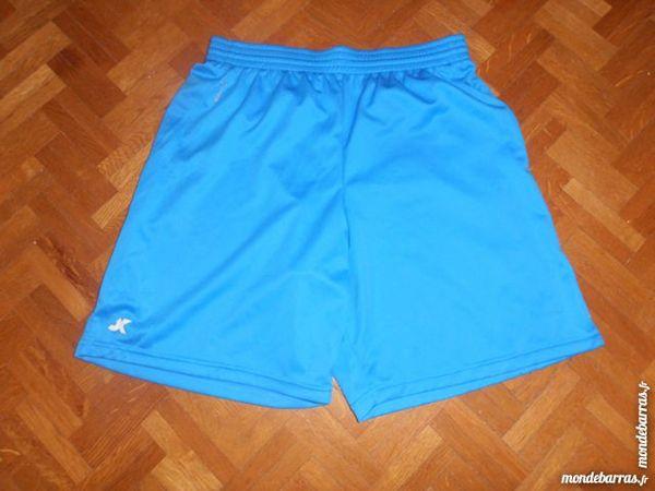 Short football adulte bleu et blanc 5 Tours (37)