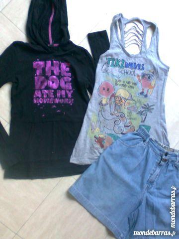 short large + 2 tee shirts  - 12 ans - zoe 2 Martigues (13)