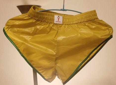 Short Nylon Polyamide Vintage Jaune/Vert S40 / M44 / L+48 31 Lyon 3 (69)