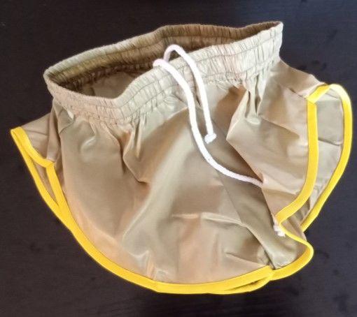 Short Vintage Nylon Polyamide Beige/jaune Taille S 40 22 Lyon 3 (69)