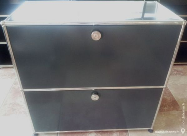 sideboard gris anthracite USM Haller 2 abattantes 800 Chenoise (77)