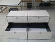 sideboard usm haller couleur blanc 2 tiroirs 2 abattantes