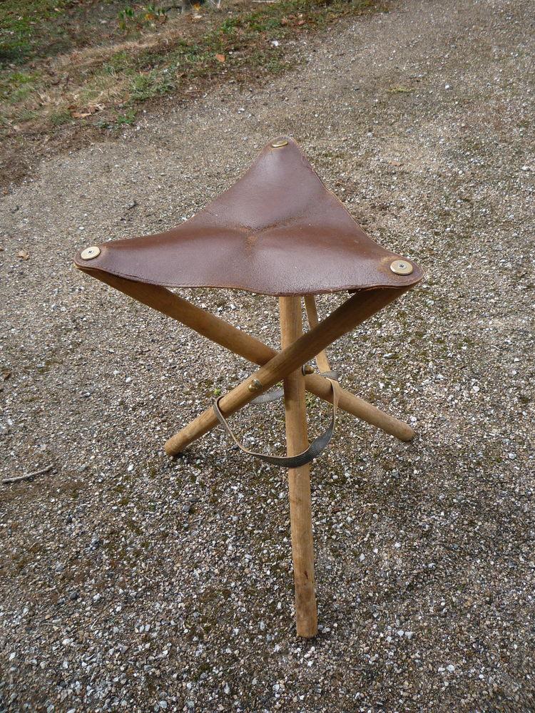 Siège pliable cuir et bois/chasse/pêche/camping 45 Castres (81)
