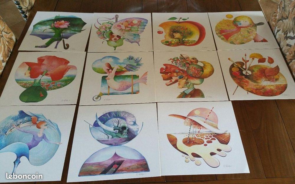Signée R Lchëfer 11 illustrations 21,4 x 21,4 100 Moulins-la-Marche (61)